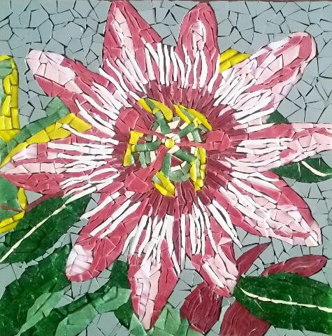 Mosaique fleur passiflore
